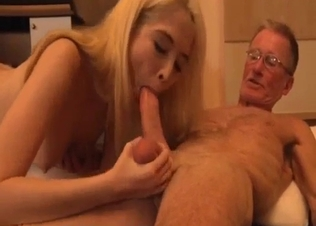 Perky tits blonde gets fucked by her father