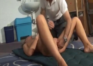 Blond-haired bombshell fucks her hung dad