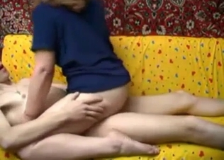 Blonde boned by her skeletal son on cam
