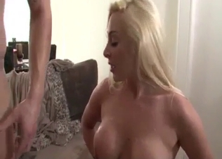 Busty blonde railed by her brother