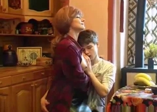 Mom doesn't mind  fucking her hung son